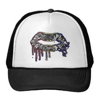 Rainbow lips design cap