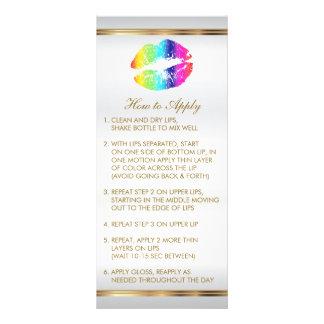 Rainbow Lips Instructions 2 Rack Card