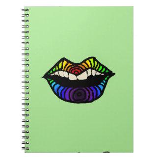 Rainbow Lips Notebook