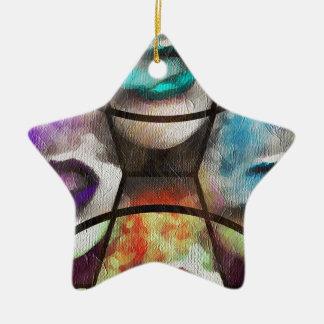 Rainbow Lips Vape Ceramic Star Decoration