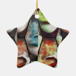 Rainbow Lips Vape Grunge Ceramic Star Decoration