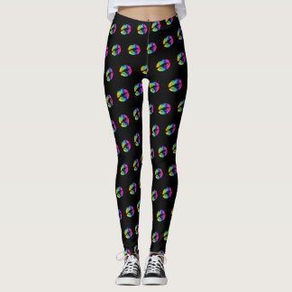 Rainbow Lipstick Pattern Leggings