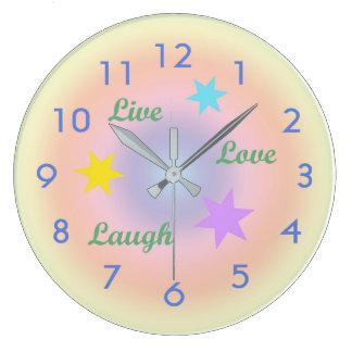 Rainbow Live-Love-Laugh Wall Clocks