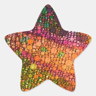 Rainbow Lizard Abstract Star Sticker