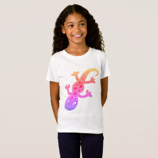 Rainbow Lizard Gecko Clip Art Illustration T-Shirt