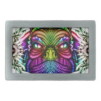 Rainbow Lizard King in Artistic Colorful Eye Frame Belt Buckle