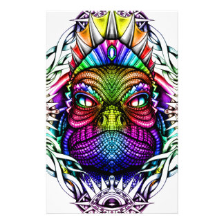 Rainbow Lizard King in Artistic Colorful Eye Frame Customised Stationery