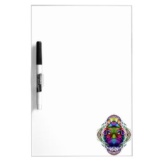 Rainbow Lizard King in Artistic Colorful Eye Frame Dry Erase Whiteboard
