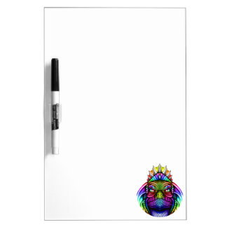 Rainbow Lizard King Wearing a Crown Trippy Dry Erase Board