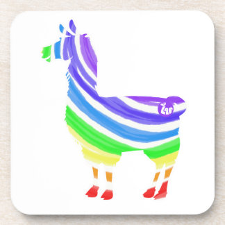 Rainbow Llama Coasters
