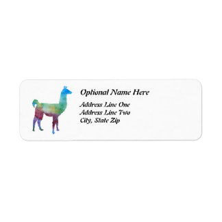 Rainbow Llamas Return Address Label