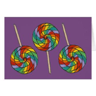 Rainbow Lollipop Candy Shop Pride Lolly Purple Card
