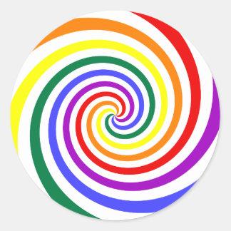 Rainbow Lollipop Classic Round Sticker