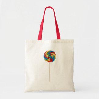 rainbow lollipop on a stick bag