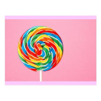 Rainbow Lollipop Post Card