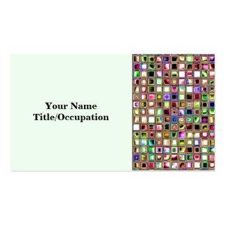 Rainbow Lollipop Textured Mosaic Tiles Pattern Business Card
