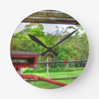 RAINBOW LORIKEET IN FLIGHT AUSTRALIA ART EFFECTS WALLCLOCK