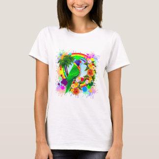 Rainbow Lorikeet Parrot Art T-Shirt