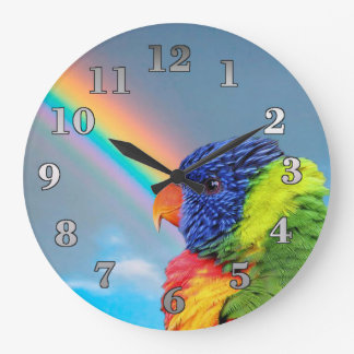 Rainbow Lorikeet Round Wall Clock