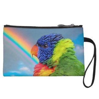 Rainbow Lorikeet Wristlet