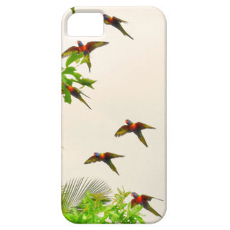 RAINBOW LORIKEETS IN FLIGHT AUSTRALIA iPhone 5 COVERS