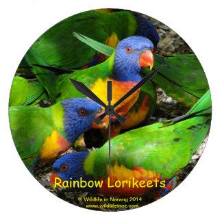 Rainbow Lorikeets Wallclock