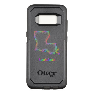 Rainbow Louisiana map OtterBox Commuter Samsung Galaxy S8 Case