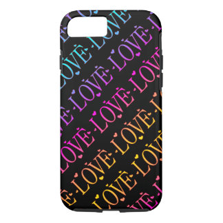 Rainbow: Love and Hearts iPhone 8/7 Case