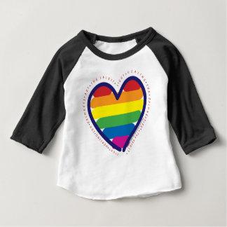 RAINBOW-LOVE-BACK BABY T-Shirt