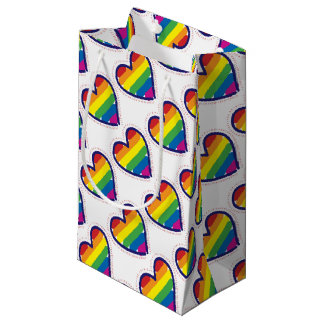RAINBOW-LOVE-BACK SMALL GIFT BAG
