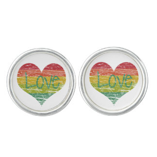 Rainbow Love Cufflinks