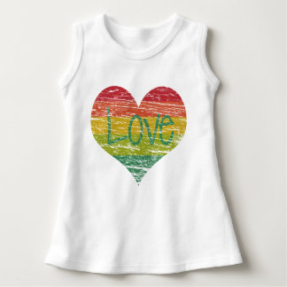 Rainbow Love Dress