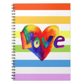 Rainbow Love Heart Notebook