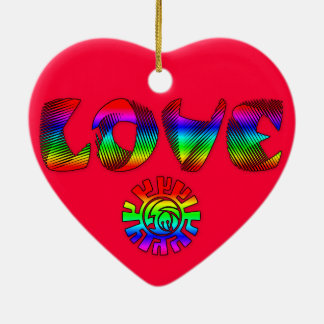 Rainbow Love Heart ornament