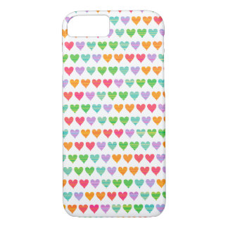 Rainbow Love Hearts Colourful Fun Cute Casing iPhone 7 Case