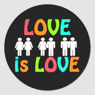 Rainbow Love is Love Lapel Stickers
