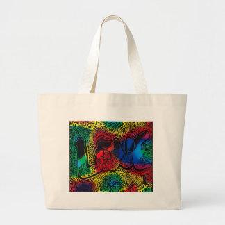 Rainbow love large tote bag