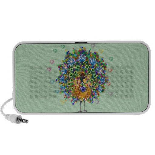 Rainbow Love Peacock Mp3 Speaker