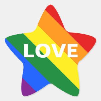 Rainbow Love Star Sticker