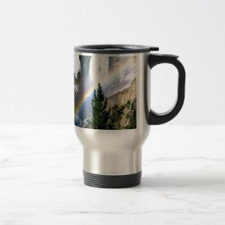 Rainbow Lower Falls Yellowstone Coffee Mug