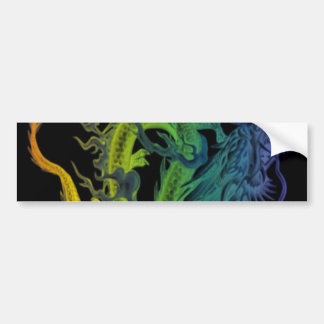 Rainbow lung Dragon Bumper Sticker