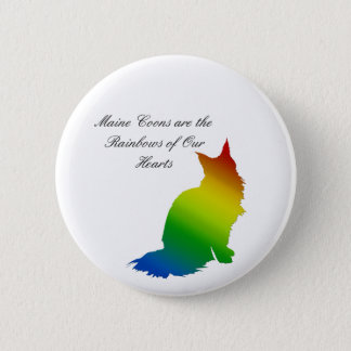 Rainbow Maine Coon 6 Cm Round Badge