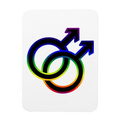 Rainbow Male Homosexual Symbol Rectangular Magnet