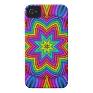 Rainbow mandala, abstract Blackberry bold case iPhone 4 Case-Mate Case