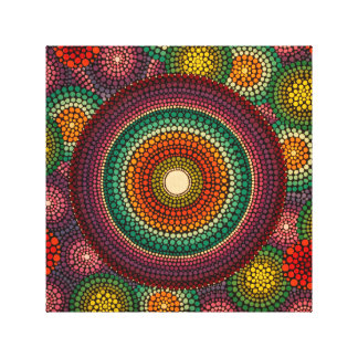 Rainbow Mandala Canvas