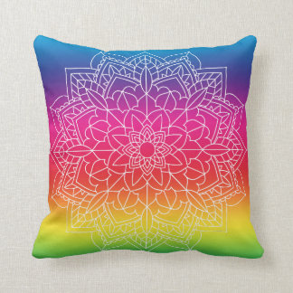 Rainbow Mandala Pillow