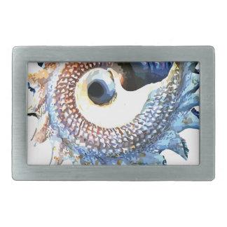 Rainbow Mandala Seashell Golden Spiral Yoga Tee Belt Buckles