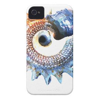 Rainbow Mandala Seashell Golden Spiral Yoga Tee Case-Mate iPhone 4 Case