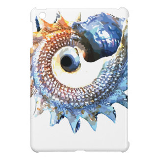Rainbow Mandala Seashell Golden Spiral Yoga Tee iPad Mini Cover