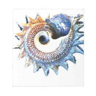 Rainbow Mandala Seashell Golden Spiral Yoga Tee Notepad